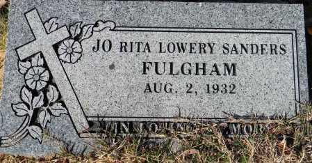 FULGHAM, JO RITA - Sebastian County, Arkansas   JO RITA FULGHAM - Arkansas Gravestone Photos