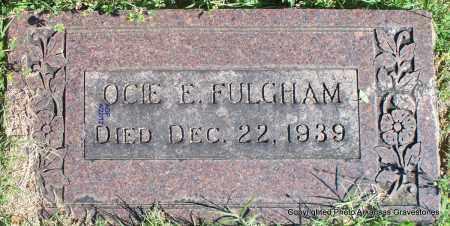 FULGHAM, OCIE E - Sebastian County, Arkansas   OCIE E FULGHAM - Arkansas Gravestone Photos