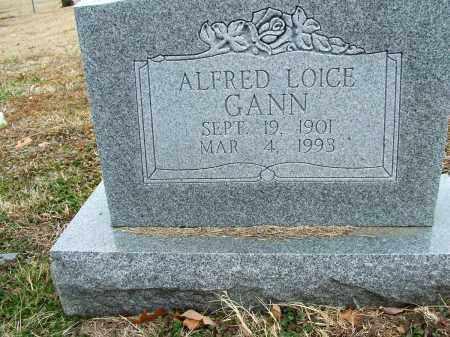 GANN, ALFRED LOICE - Sebastian County, Arkansas | ALFRED LOICE GANN - Arkansas Gravestone Photos