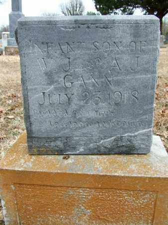 GANN, INFANT SON - Sebastian County, Arkansas | INFANT SON GANN - Arkansas Gravestone Photos
