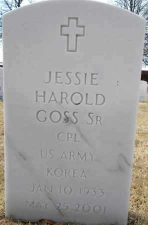 GOSS, SR  (VETERAN KOR), JESSIE HAROLD - Sebastian County, Arkansas | JESSIE HAROLD GOSS, SR  (VETERAN KOR) - Arkansas Gravestone Photos