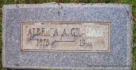 GRAHAM, ALBERTA A - Sebastian County, Arkansas   ALBERTA A GRAHAM - Arkansas Gravestone Photos