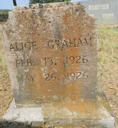 GRAHAM, ALICE - Sebastian County, Arkansas   ALICE GRAHAM - Arkansas Gravestone Photos