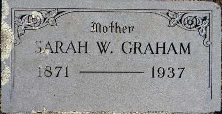 GRAHAM, SARAH W - Sebastian County, Arkansas | SARAH W GRAHAM - Arkansas Gravestone Photos