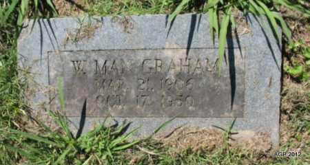 GRAHAM, W MAX - Sebastian County, Arkansas | W MAX GRAHAM - Arkansas Gravestone Photos