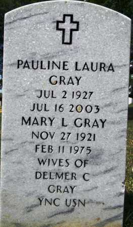 GRAY, PAULINE LAURA - Sebastian County, Arkansas | PAULINE LAURA GRAY - Arkansas Gravestone Photos