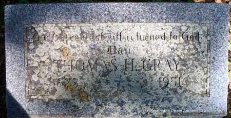GRAY, THOMAS H - Sebastian County, Arkansas | THOMAS H GRAY - Arkansas Gravestone Photos