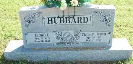 HANSON HUBBARD, CLETUS B - Sebastian County, Arkansas   CLETUS B HANSON HUBBARD - Arkansas Gravestone Photos