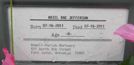JEFFERSON, ARIEL RAE - Sebastian County, Arkansas   ARIEL RAE JEFFERSON - Arkansas Gravestone Photos
