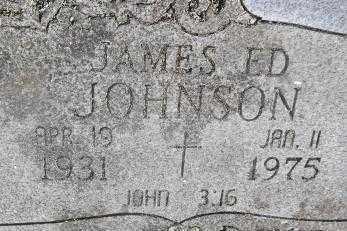 JOHNSON, JAMES ED - Sebastian County, Arkansas   JAMES ED JOHNSON - Arkansas Gravestone Photos