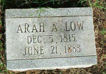 LOW, ARAH A - Sebastian County, Arkansas   ARAH A LOW - Arkansas Gravestone Photos