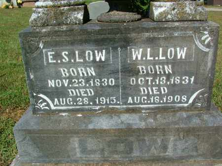 LOW, E.S. (CLOSEUP) - Sebastian County, Arkansas | E.S. (CLOSEUP) LOW - Arkansas Gravestone Photos