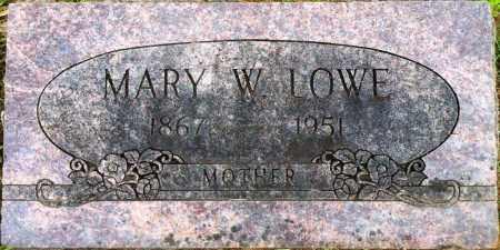 LOWE, MARY WEBSTER - Sebastian County, Arkansas | MARY WEBSTER LOWE - Arkansas Gravestone Photos