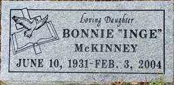 "MCKINNEY, BONNIE ""INGE"" - Sebastian County, Arkansas | BONNIE ""INGE"" MCKINNEY - Arkansas Gravestone Photos"