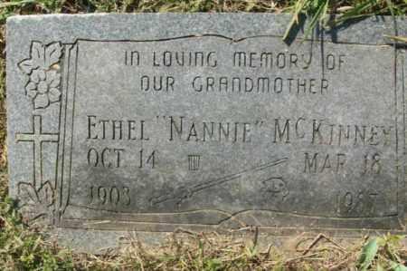 "MCKINNEY, ETHEL ""NANNIE"" - Sebastian County, Arkansas | ETHEL ""NANNIE"" MCKINNEY - Arkansas Gravestone Photos"