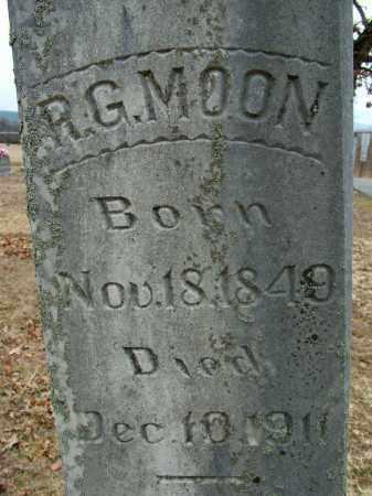 MOON, R G (CLOSE UP) - Sebastian County, Arkansas   R G (CLOSE UP) MOON - Arkansas Gravestone Photos