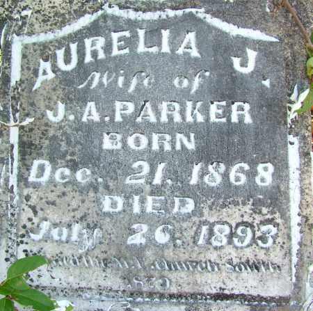 PARKER, AURELIA J. - Sebastian County, Arkansas   AURELIA J. PARKER - Arkansas Gravestone Photos