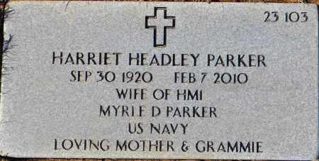 PARKER, HARRIETT - Sebastian County, Arkansas | HARRIETT PARKER - Arkansas Gravestone Photos