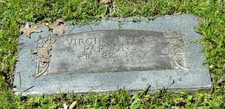 PARSONS, VIRGINIA FAYE - Sebastian County, Arkansas | VIRGINIA FAYE PARSONS - Arkansas Gravestone Photos