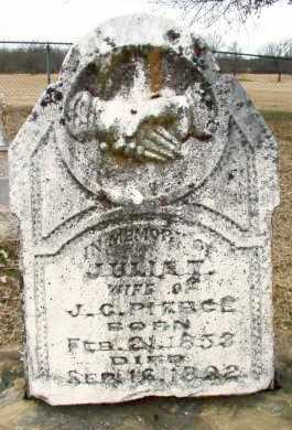 PIERCE, JULIA T. - Sebastian County, Arkansas | JULIA T. PIERCE - Arkansas Gravestone Photos