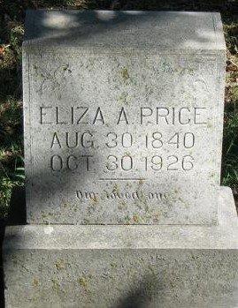 RUST PRICE, ELIZA A - Sebastian County, Arkansas | ELIZA A RUST PRICE - Arkansas Gravestone Photos