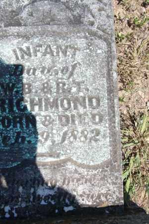 RICHMOND, INFANT - Sebastian County, Arkansas | INFANT RICHMOND - Arkansas Gravestone Photos