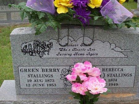 STALLINGS, SARAH REBECCA - Sebastian County, Arkansas | SARAH REBECCA STALLINGS - Arkansas Gravestone Photos