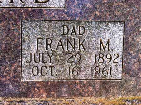 WARD, FRANK M (CLOSE UP) - Sebastian County, Arkansas | FRANK M (CLOSE UP) WARD - Arkansas Gravestone Photos