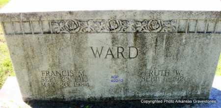WARD, FRANCIS MARION - Sebastian County, Arkansas | FRANCIS MARION WARD - Arkansas Gravestone Photos