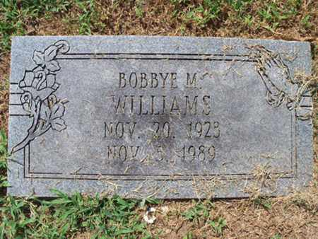WILLIAMS, BOBBYE M - Sebastian County, Arkansas | BOBBYE M WILLIAMS - Arkansas Gravestone Photos
