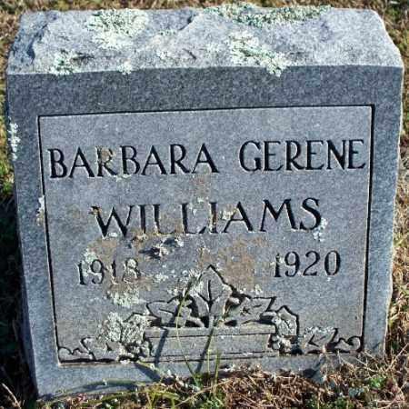 WILLIAMS, BARBARA GERENE - Sebastian County, Arkansas   BARBARA GERENE WILLIAMS - Arkansas Gravestone Photos