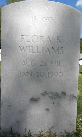 WILLIAMS, FLORA K - Sebastian County, Arkansas | FLORA K WILLIAMS - Arkansas Gravestone Photos