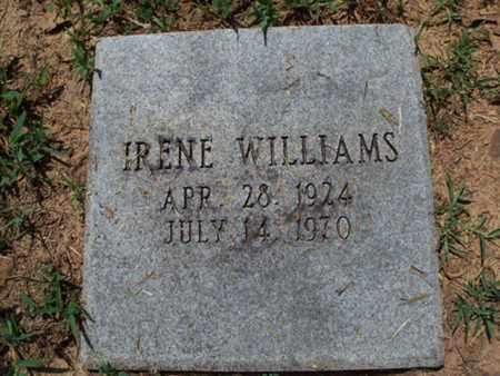 WILLIAMS, IRENE - Sebastian County, Arkansas | IRENE WILLIAMS - Arkansas Gravestone Photos