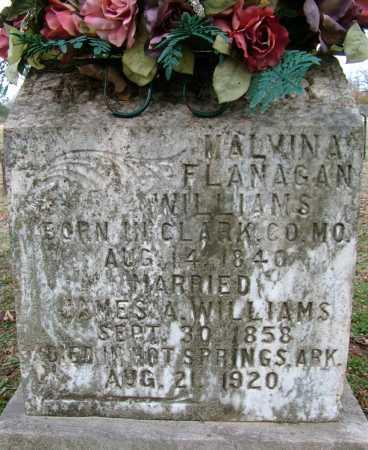 WILLIAMS, MALVINA - Sebastian County, Arkansas | MALVINA WILLIAMS - Arkansas Gravestone Photos