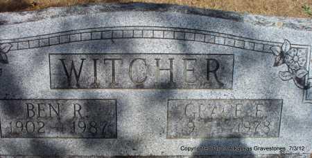 WITCHER, GRACE E - Sebastian County, Arkansas   GRACE E WITCHER - Arkansas Gravestone Photos