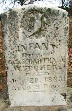 WITCHER, INFANT DAUGHTER - Sebastian County, Arkansas | INFANT DAUGHTER WITCHER - Arkansas Gravestone Photos