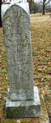 LASTER WITCHER, MARY ELIZABETH - Sebastian County, Arkansas | MARY ELIZABETH LASTER WITCHER - Arkansas Gravestone Photos