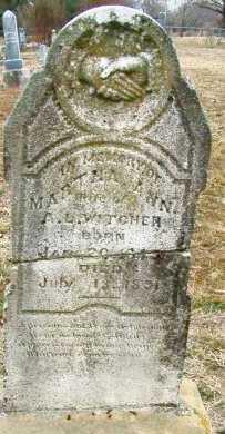 WITCHER, MARTHA ANN - Sebastian County, Arkansas   MARTHA ANN WITCHER - Arkansas Gravestone Photos