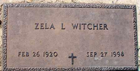WITCHER, ZELA L - Sebastian County, Arkansas   ZELA L WITCHER - Arkansas Gravestone Photos