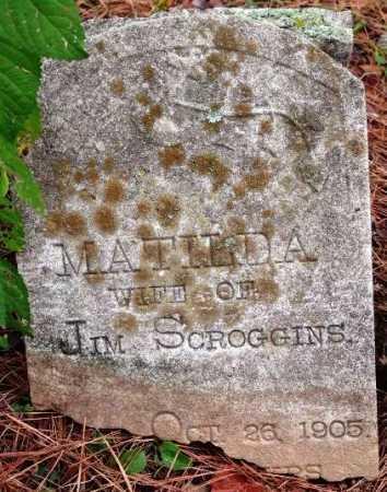 SCROGGINS, MATILDA - Sevier County, Arkansas   MATILDA SCROGGINS - Arkansas Gravestone Photos