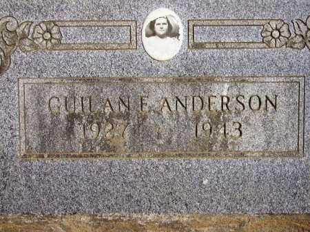 ANDERSON, GUILAN E - Sevier County, Arkansas   GUILAN E ANDERSON - Arkansas Gravestone Photos