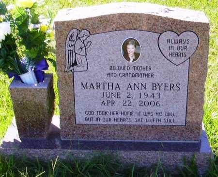 BYERS, MARTHA ANN - Sevier County, Arkansas | MARTHA ANN BYERS - Arkansas Gravestone Photos