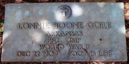GORE  (VETERAN WWII), LONNIE BOONE - Sevier County, Arkansas | LONNIE BOONE GORE  (VETERAN WWII) - Arkansas Gravestone Photos