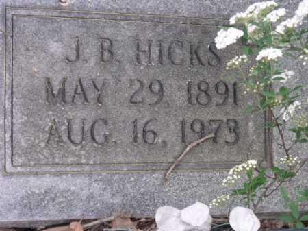 HICKS, J B (CLOSE UP) - Sevier County, Arkansas | J B (CLOSE UP) HICKS - Arkansas Gravestone Photos