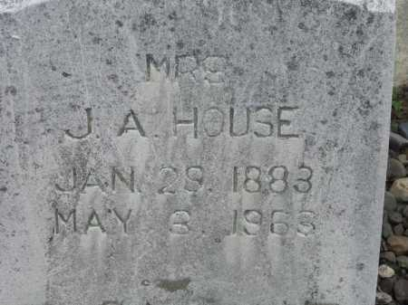 HOUSE, J A, MRS - Sevier County, Arkansas | J A, MRS HOUSE - Arkansas Gravestone Photos