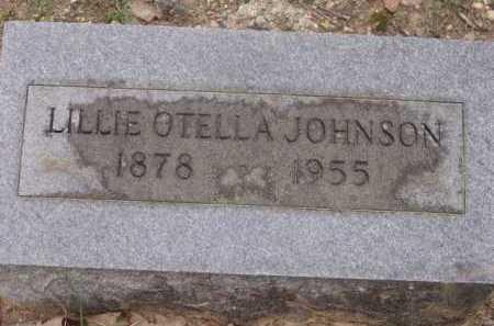 JOHNSON, LILLIE OTELLA - Sevier County, Arkansas   LILLIE OTELLA JOHNSON - Arkansas Gravestone Photos
