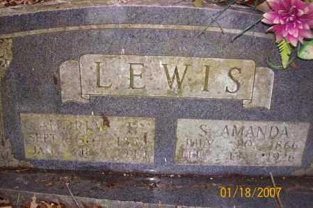 LEWIS, S AMANDA - Sevier County, Arkansas | S AMANDA LEWIS - Arkansas Gravestone Photos