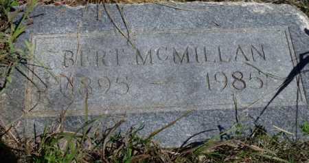 MCMILLAN, BERT - Sevier County, Arkansas | BERT MCMILLAN - Arkansas Gravestone Photos