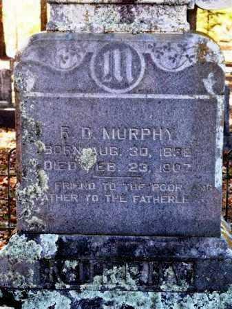 MURPHY, R D (CLOSE UP) - Sevier County, Arkansas | R D (CLOSE UP) MURPHY - Arkansas Gravestone Photos
