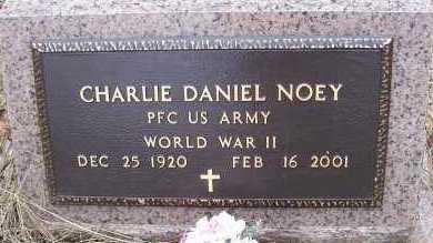 NOEY (VETERAN WWII), CHARLIE DANIEL - Sevier County, Arkansas | CHARLIE DANIEL NOEY (VETERAN WWII) - Arkansas Gravestone Photos